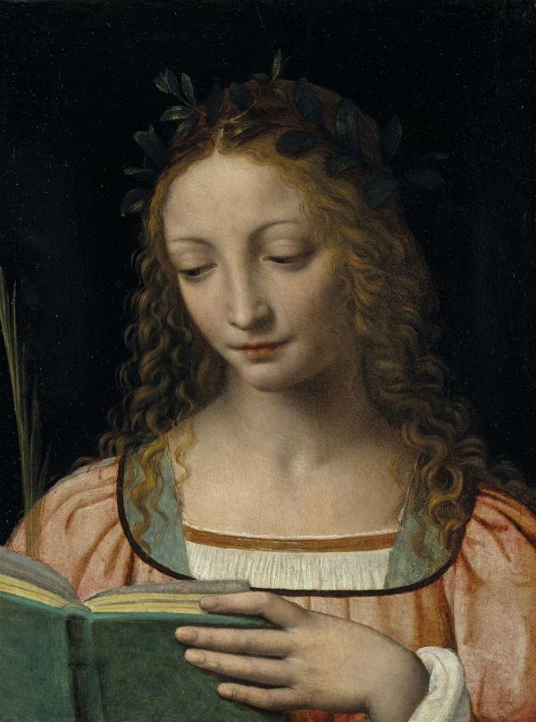 2-Бернардино Луини - Святая с пальмовой ветвью и книгой -  Начало XVI века.jpg