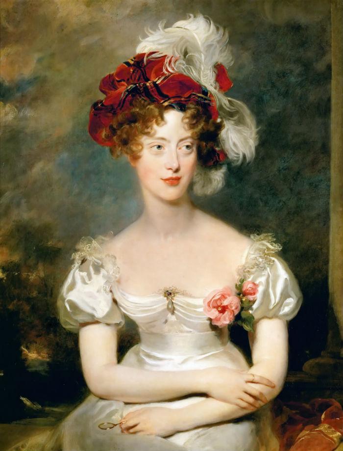 5-Томас ЛоуренсПортрет Марии Каролины де Бурбон-Сицилийской герцогини Беррийской - 1825.jpg