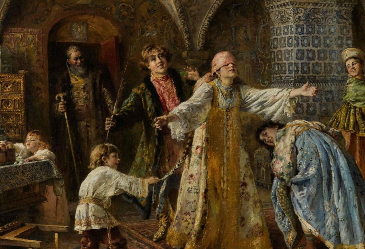 2-Константин Егорович Маковский - Игра в жмурки - 1890-е (фрагмент).jpg
