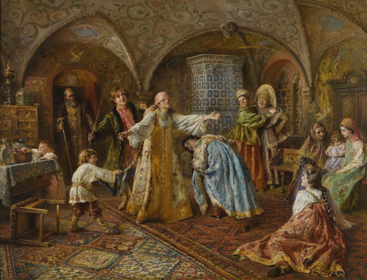 3-Константин Егорович Маковский - Игра в жмурки - 1890-е.jpg