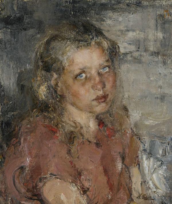 5-Николай Иванович Фешин - Портрет девочки - 1910-е.jpg