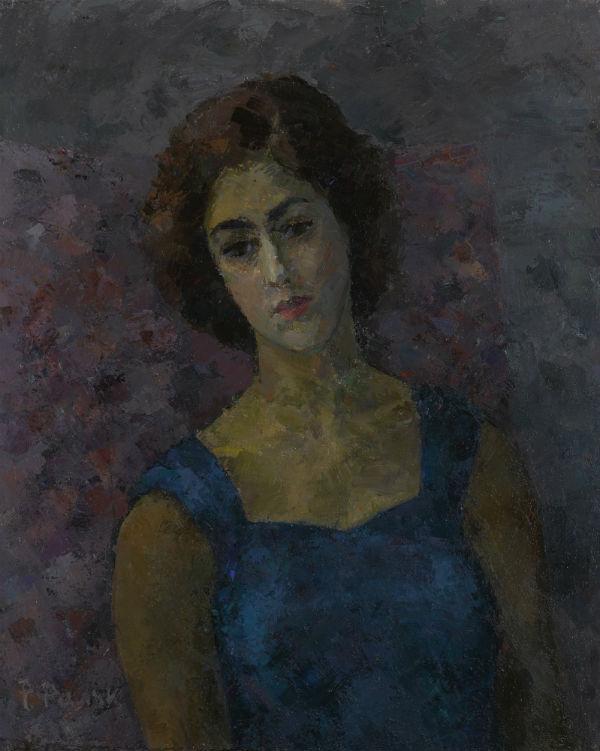 6-Роберт Рафаилович Фальк - Гречанка (Портрет Инны Костакис) - 1955.jpg