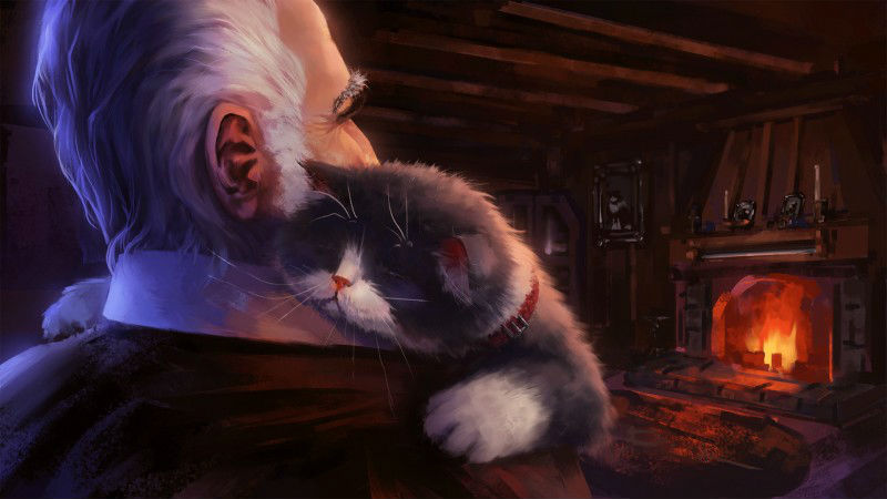 Эндрю Пальянов - Кот и хозяин.jpg