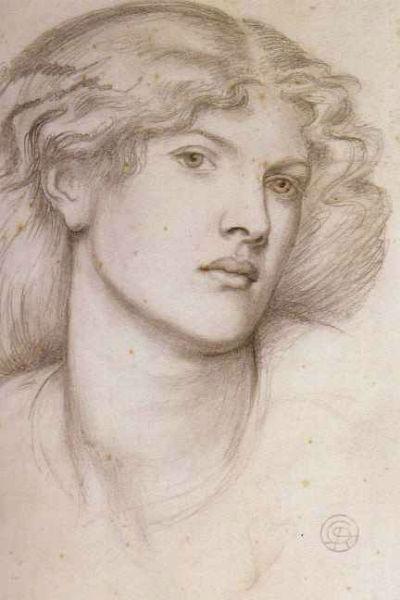 2-Данте Габриэль Россетти - Портрет Фанни Корнфорт - около 1865.jpg