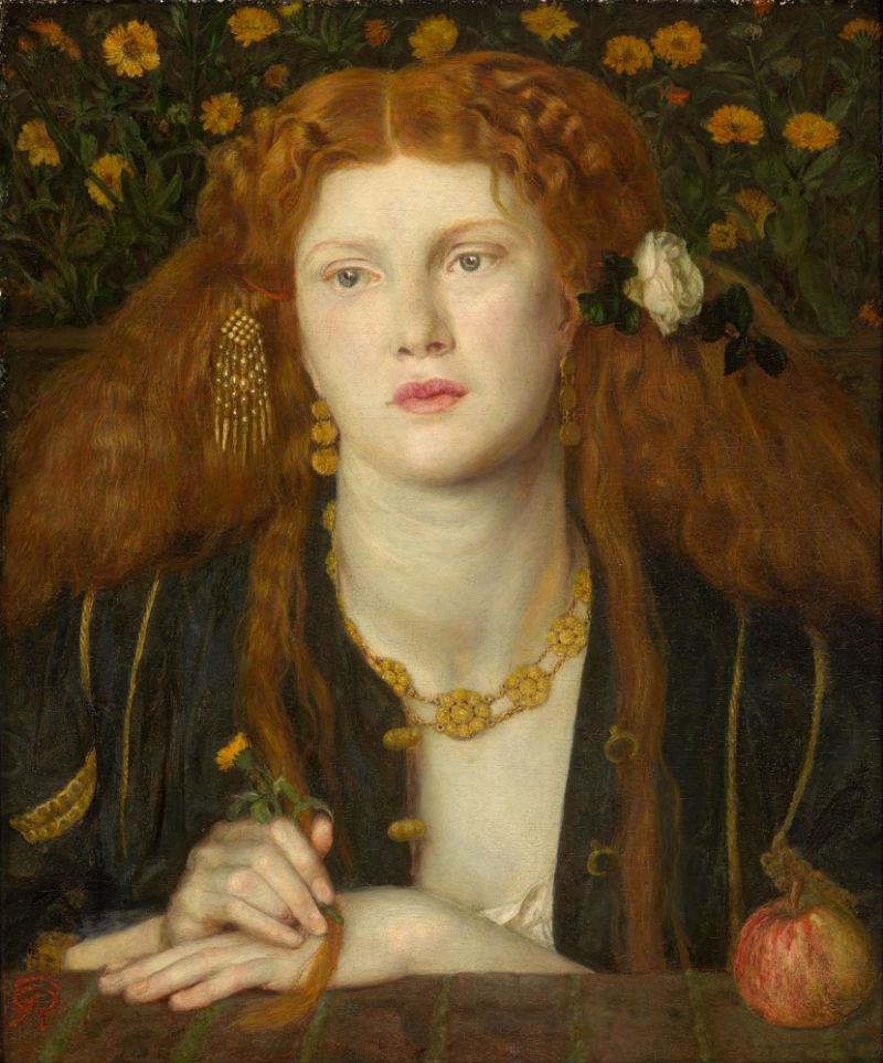 3-Данте Габриэль Россетти - Целуя твои уста (Портрет Фанни Корнфорт) -  1859.jpg