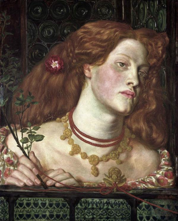 11-Данте Габриэль Россетти - Прекрасная Розамунда (Портрет Фанни Корнфорт) - 1861.jpg