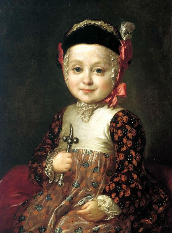 3-Фёдор Степанович Рокотов - Портрет Алексея Бобринского в детстве - 1760-е.jpg