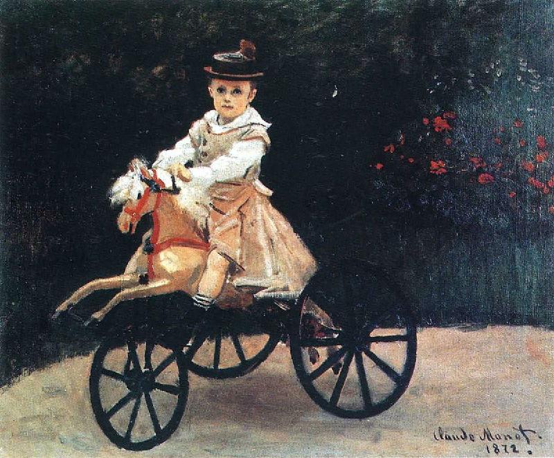 8-Клод Моне - Жан Моне на лошадке - 1872.jpg