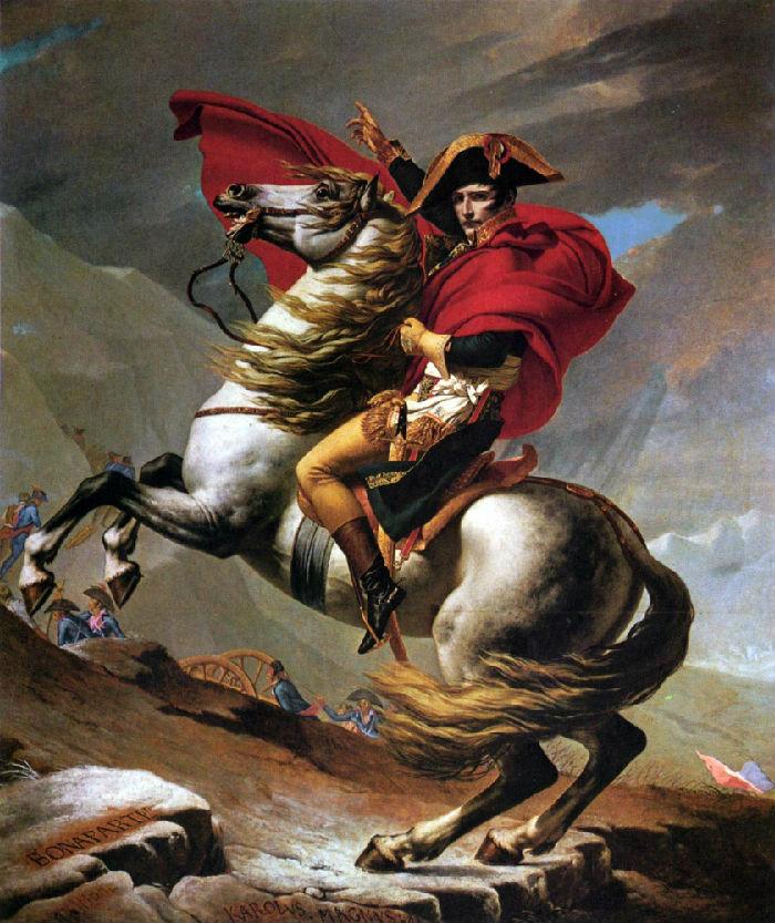 9-Жак-Луи Давид - Наполеон на перевале Сен-Бернар I - 1803.jpg