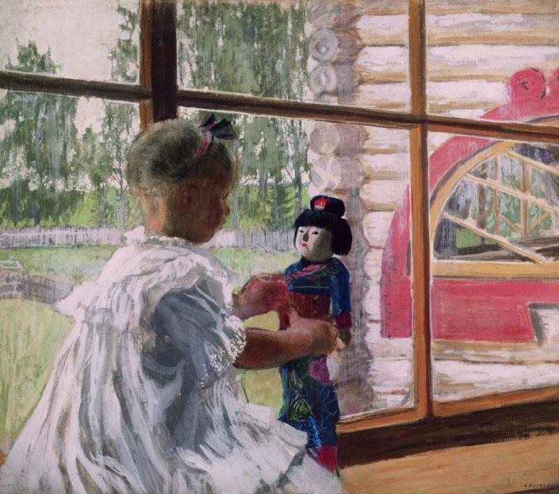 11-Борис Михайлович Кустодиев - Японская кукла - 1908.jpg