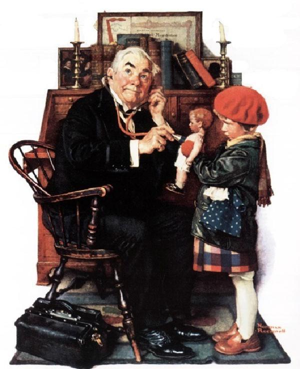 12-Норман Роквелл - Доктор и кукла - XX век.jpg