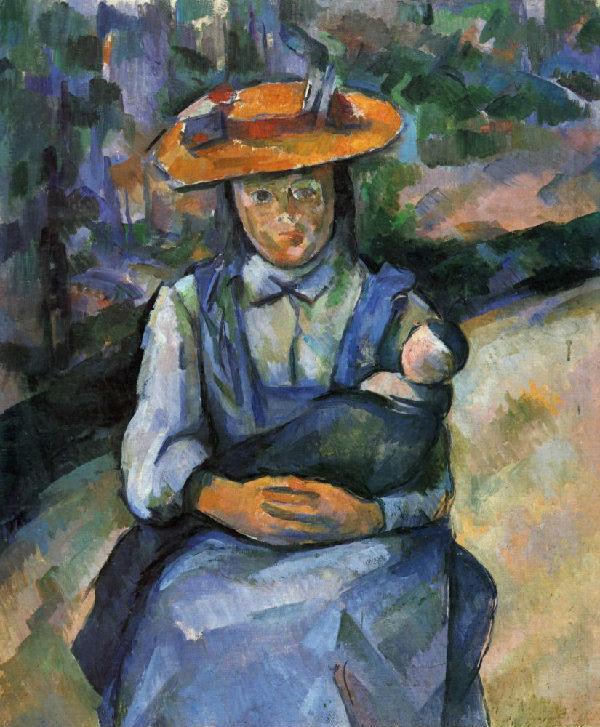 13-Поль Сезанн - Девочка с куклой - 1904.jpg