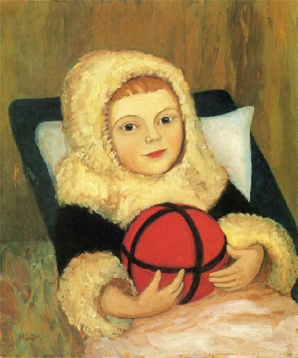 17-Габриель Мюнтер - Ребёнок с мячом - 1916.jpg