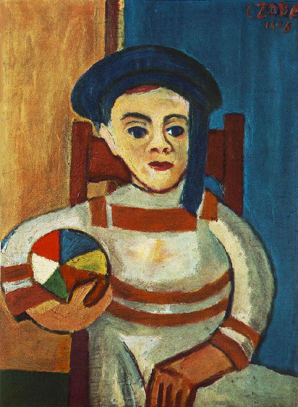 18-Бела Зобель - Мальчик с мячом.jpg