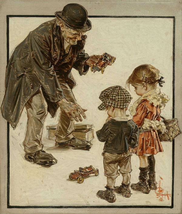 20-Джозеф Кристиан Лейендекер - Продавец игрушек - 1915.jpg