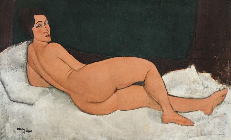 1-Амедео Модильяни - Лежащая обнажённая (на левом боку) - 1917.jpg