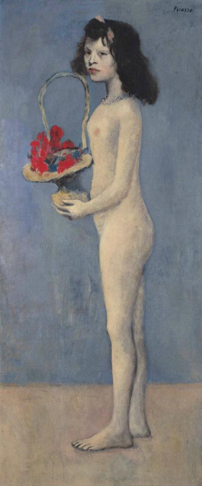 2-Пабло Пикассо - Девочка с цветочной корзиной - 1905.jpg