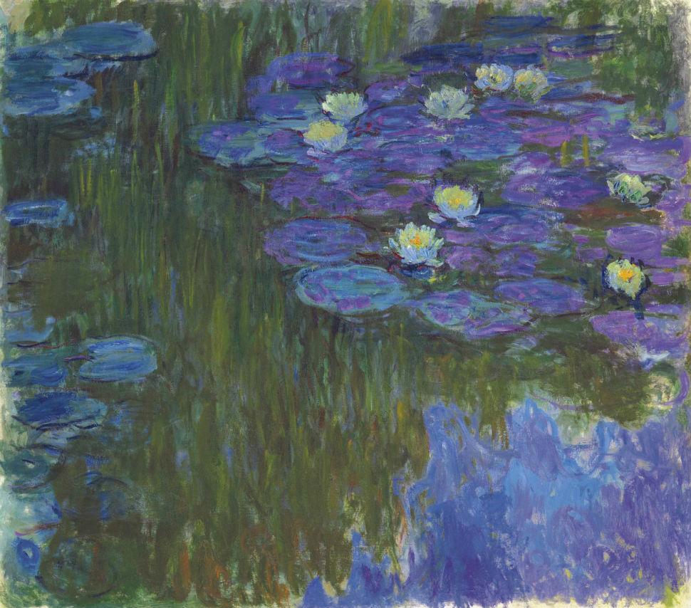 6-Клод Моне - Кувшинки в цвету - 1916.jpg