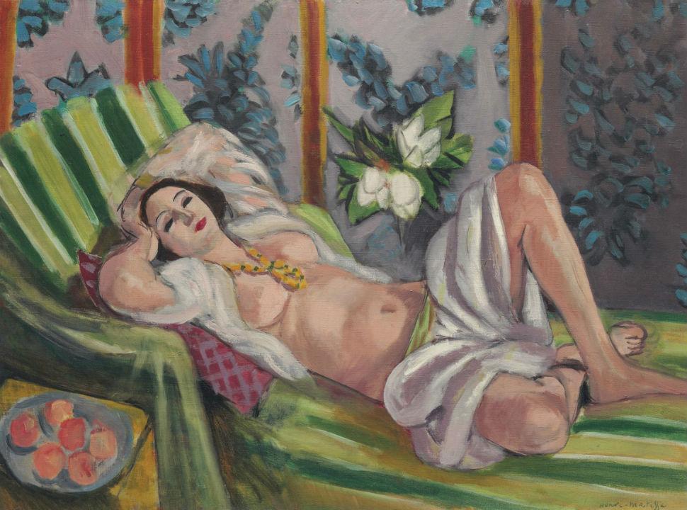 7-Анри Матисс - Лежащая одалиска с магнолиями - 1923.jpg