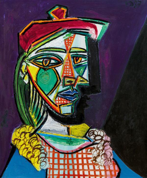 10-Пабло Пикассо - Женщина в берете и клетчатом платье (Мария-Тереза Вальтер) - 1937.jpg
