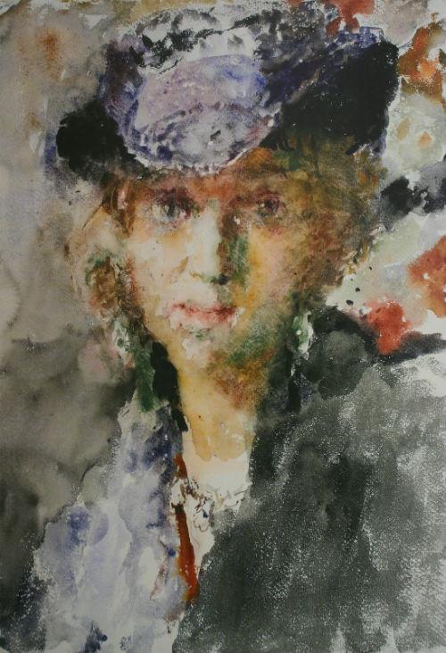 5-Портрет Елены Тагер в шляпке - 1950-е.jpg