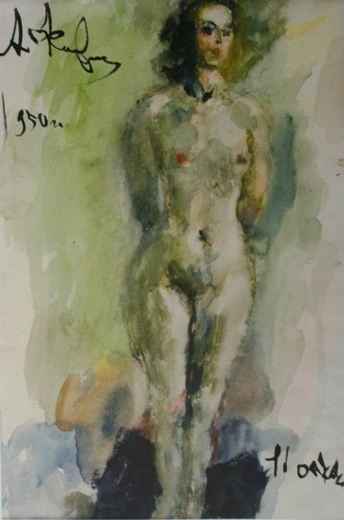 12-Обнаженная Портрет Аллы Беляковой - 1950-е.jpg