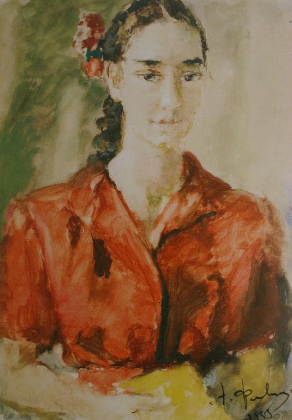 13-Портрет девушки в красном - 1955.jpg