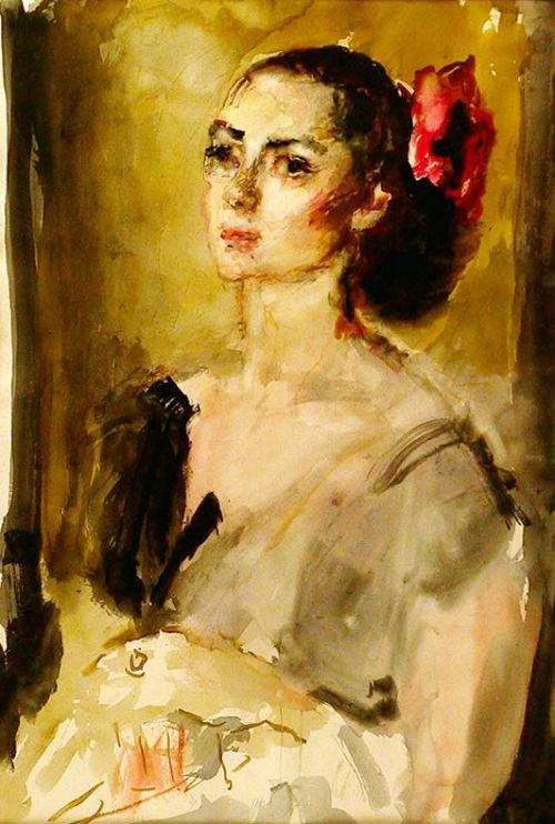 15-Портрет балерины М В Колпакчи - 1956.jpg