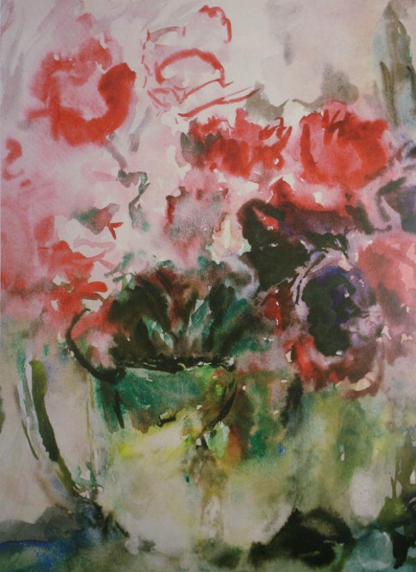 29-Тюльпаны в зелёной вазе - начало 1960-х.jpg