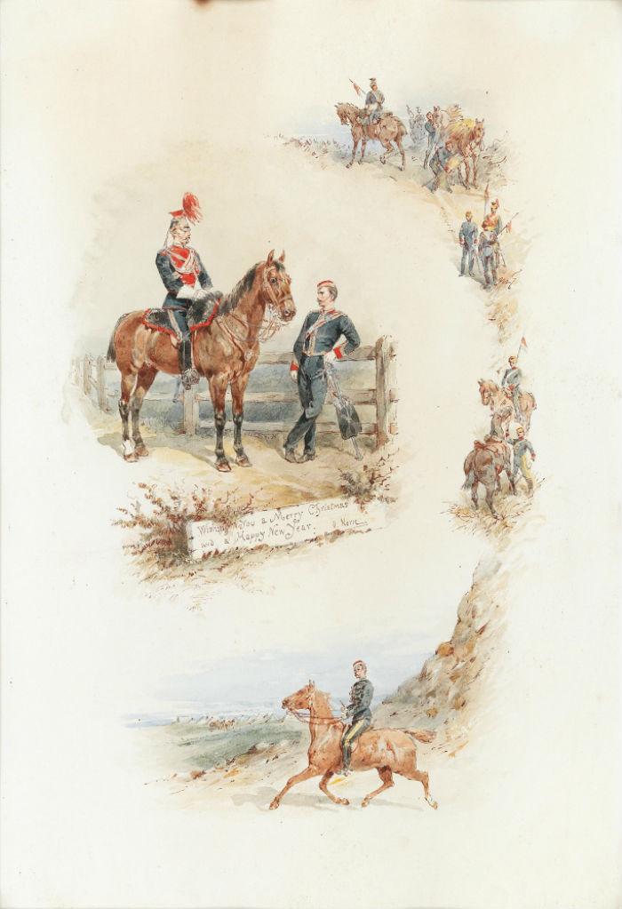 8-Орландо Нори - Верховой драгун в разных ситуациях - Конец XIX века.jpg