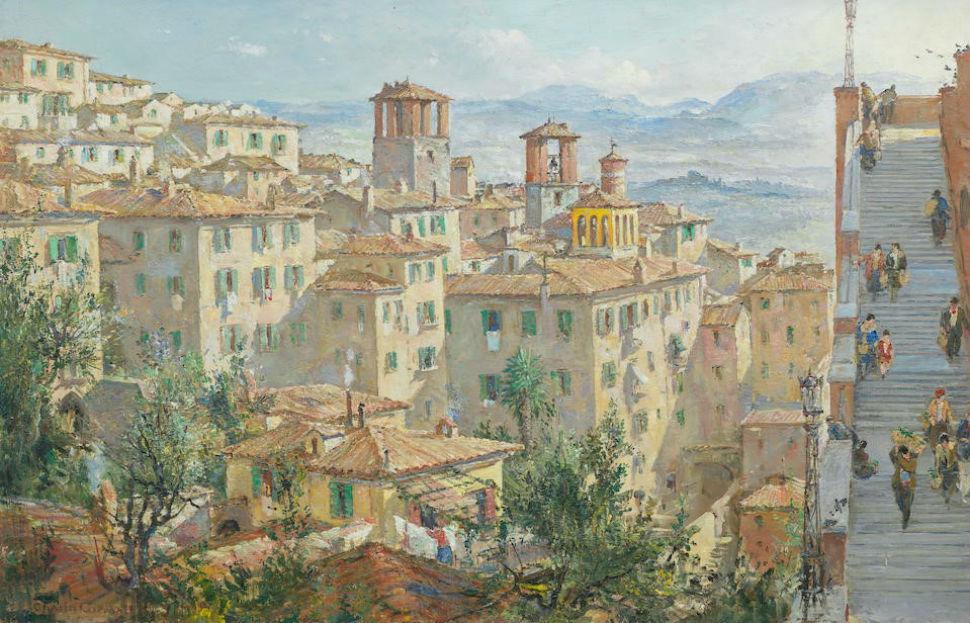 9-Чарльз Кандалл - На рынок Перуджа - Начало XX века.jpg