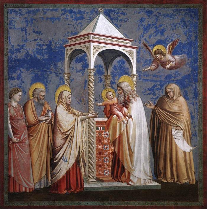 2-Джотто ди Бондоне (1266 или 1267-1337 Италия) - Принесение во храм.jpg