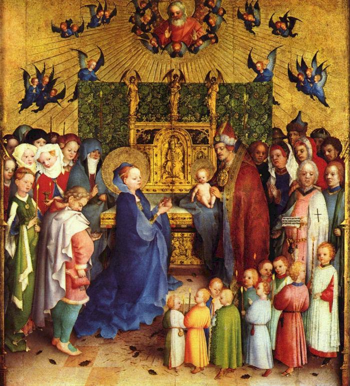 3-Штефан Лохнер (1400 до 1410-1451 Германия) - Принесение Христа во храм.jpg