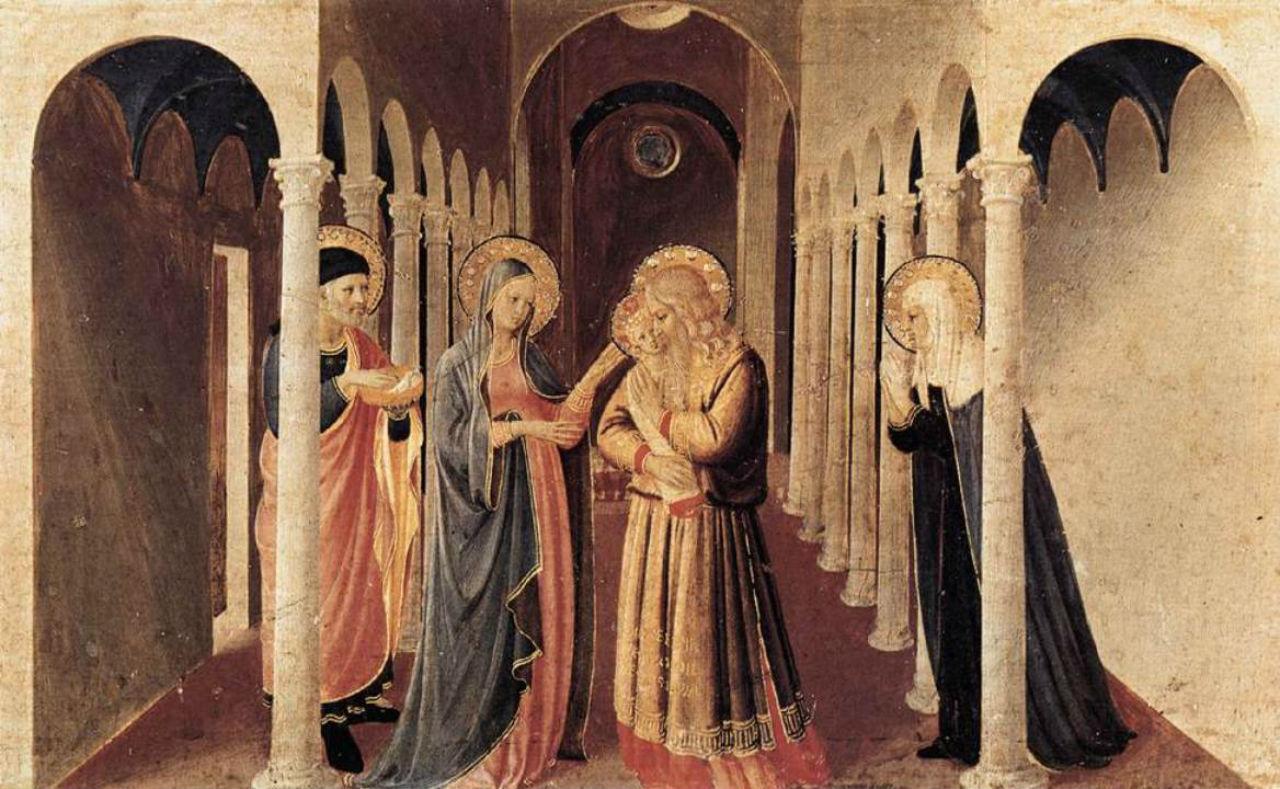 4-Фра Анжелико (1400-1465 Италия) - Принесение во храм - 1432.jpg