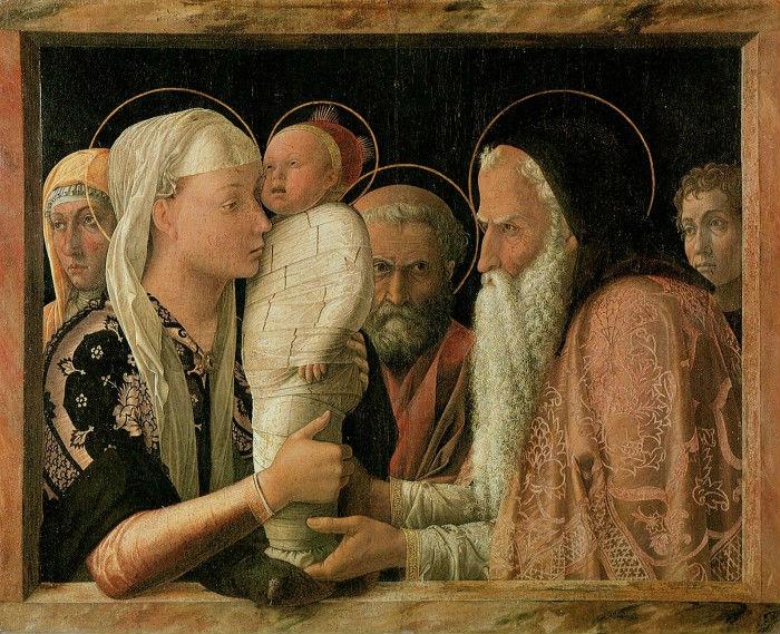 5-Андреа Мантенья (1431-1506 Италия) - Принесение во храм - Около 1460.jpg