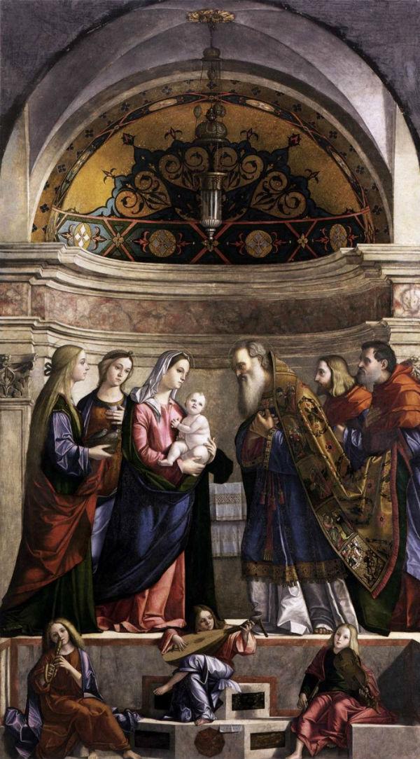 7-Витторе Карпаччо (1465-около 1526 Италия) - Принесение во храм.jpg