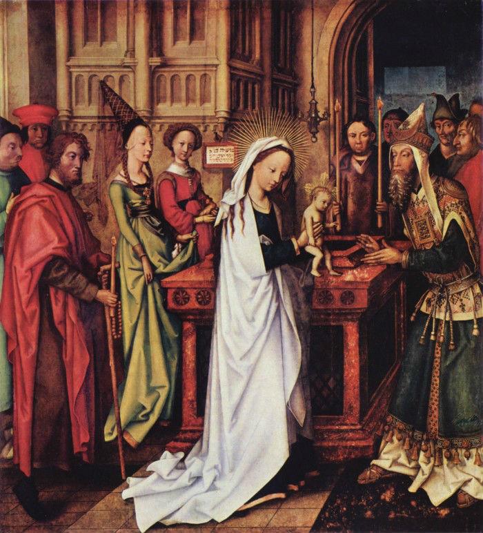 8-Ганс Гольбейн Старший (1465-1524 Германия)  - Принесение Христа во храм - 1500-1501.jpg