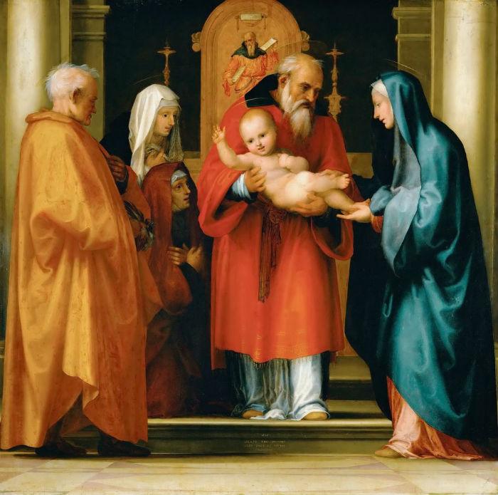 9-Фра Бартоломео (1472-1517 Италия) - Сретение.jpg