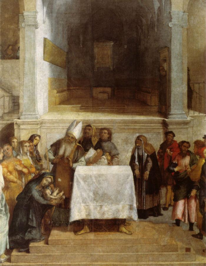 10-Лоренцо Лотто (1480-1556 Италия) - Принесение во храм.jpg