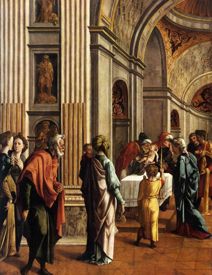 11-Ян ван Скорел (1495-1562 Нидерланды)- Принесение Христа во храм.jpg