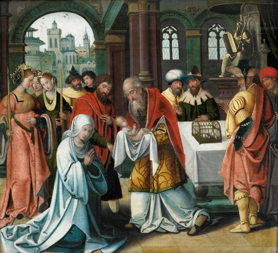 12-Питер Кук ван Альст (1502-1550 Бельгия) - Принесение во храм.jpg