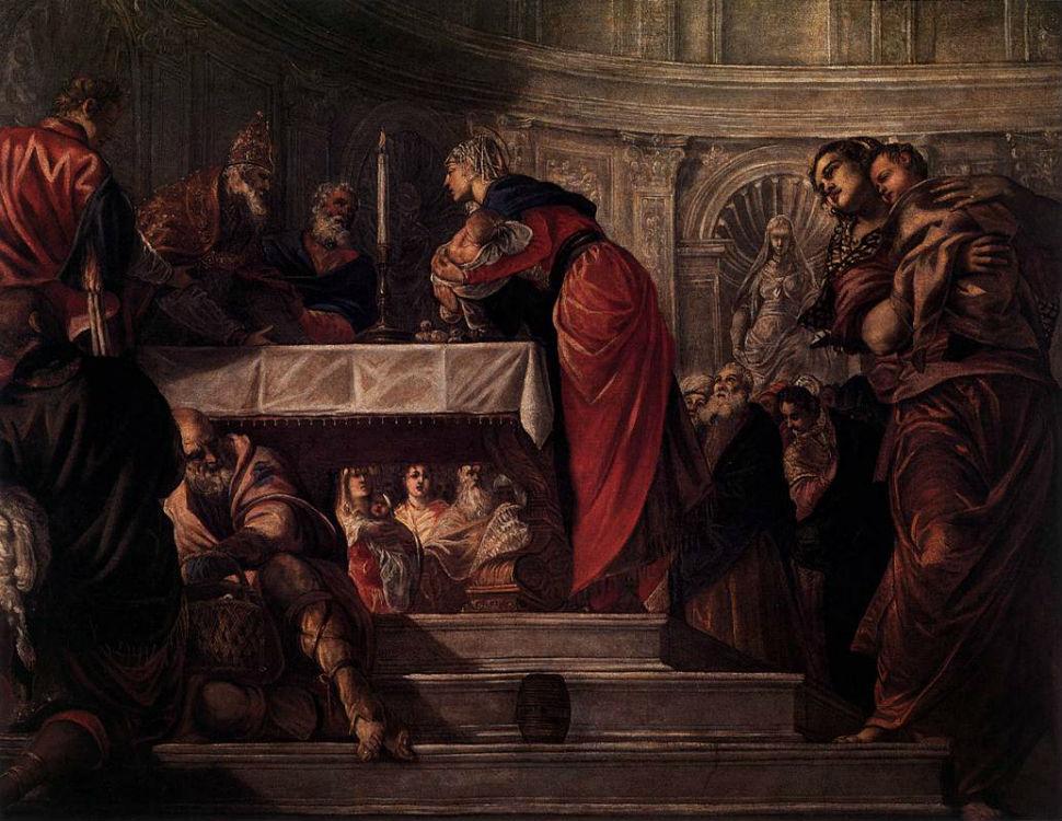 13-Тинторетто (1518 или 1519-1594 Италия) - Принесение во храм.jpg