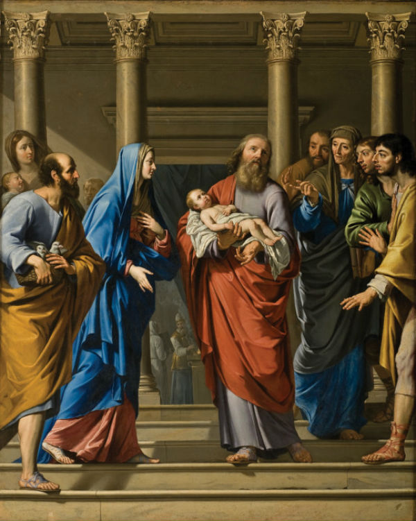 15-Филипп де Шампань (1602-1674 Франция) - Принесение во храм.jpg