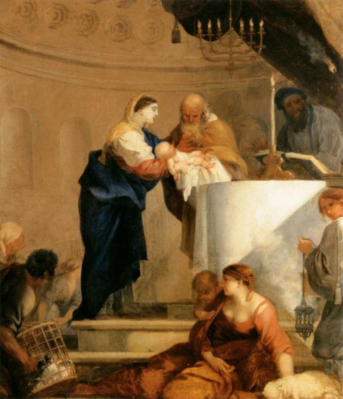 17-Себастьян Бурдон (1616-1671 Франция) - Принесение во храм.jpg