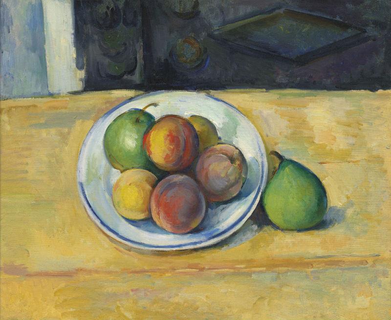 Натюрморт с персиками и грушами - Поль Сезанн - 1887.jpg