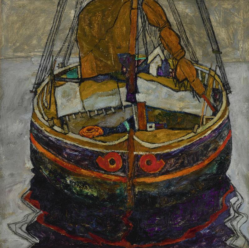 Рыбацкая лодка в Триесте - Эгон Шиле - 1912.jpg