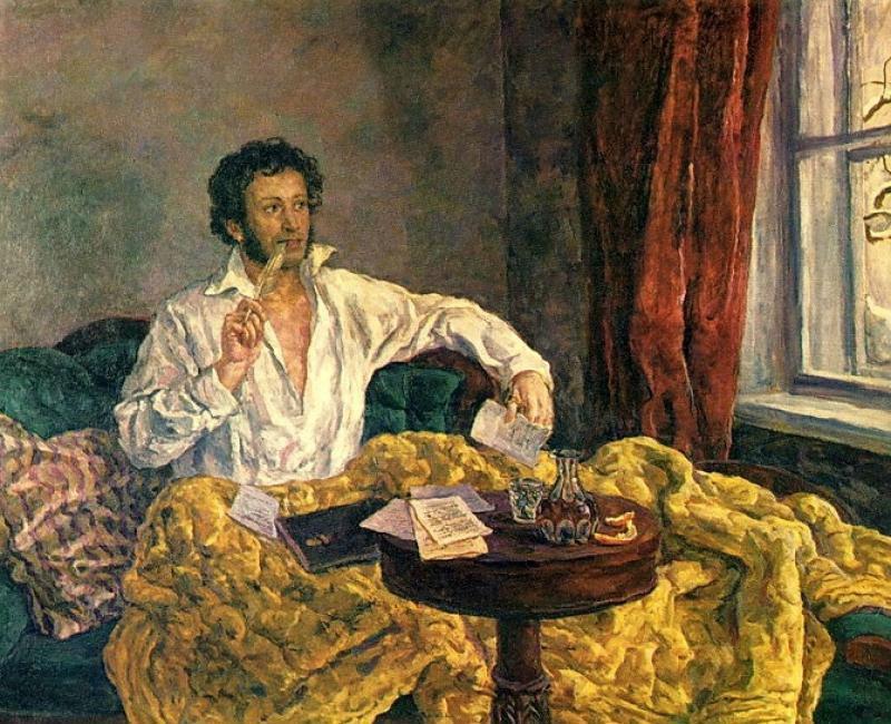 Пётр Петрович Кончаловский - Пушкин в Михайловском - 1940.jpg
