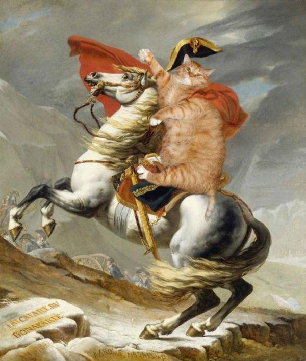 Жак-Луи Давид - Переход кота  Наполеона через Альпы.jpg