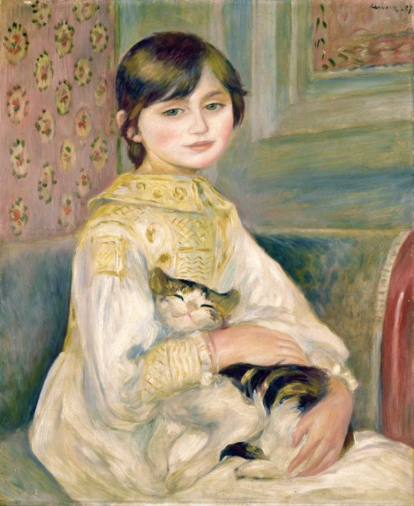 Огюст Ренуар - Жюли Мане с кошкой - 1887 - Музей Орсе - Париж.jpg