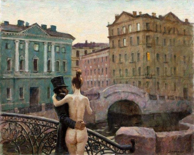 Виктор Ляпкало - Пушкин и муза.jpg